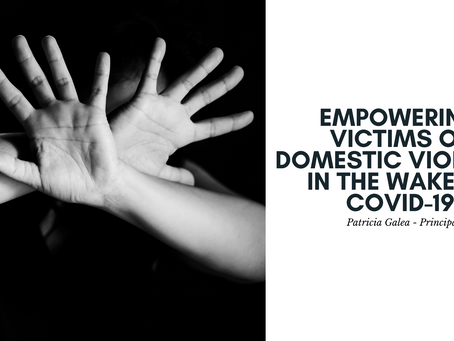Empowering victims of domestic violence in the wake of COVID-19