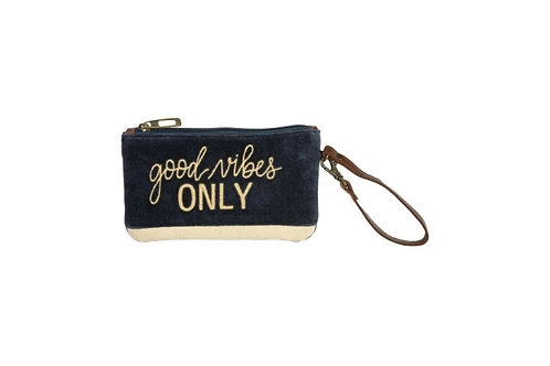 Good Vibes Only Wristlet