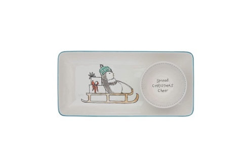 Ceramic Penguin Platter and Dish Set