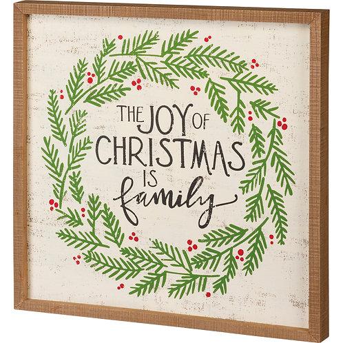 The Joy of Christmas Box Sign
