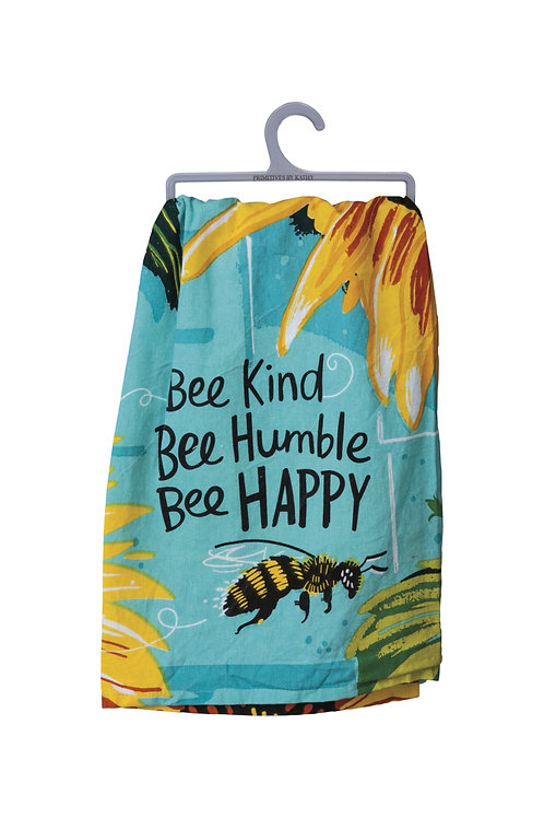 Bee Kind, Bee Humble, Bee Happy Dish Towel