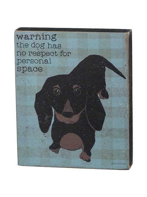 Dog Block Sign