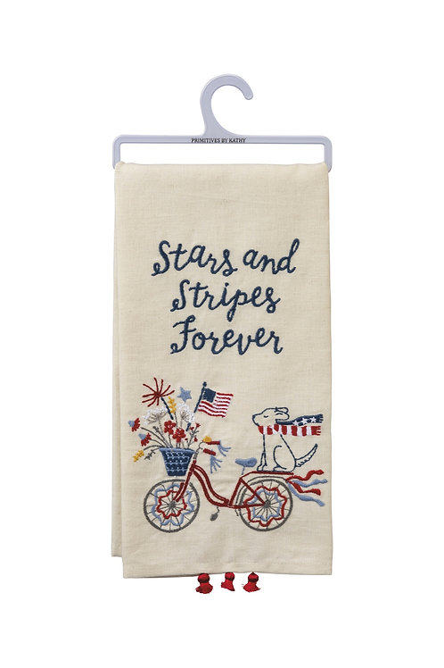 Stars and Stripes Forever Dish Towel