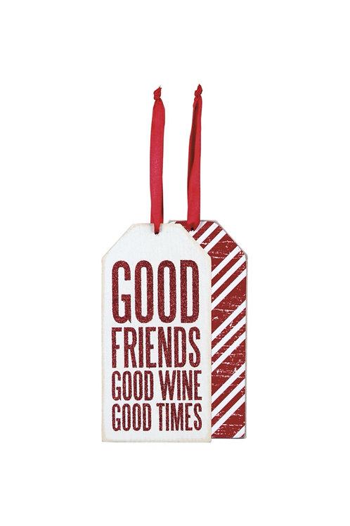 Good Friends Bottle Tag