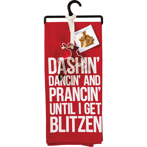 Get Blitzen Dish Towel & Cookie Cutter Set