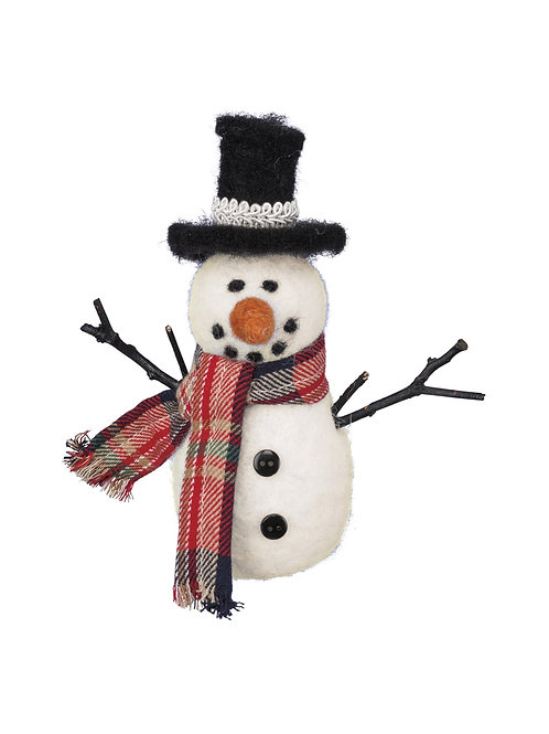 Snowman with Top Hat Ornament