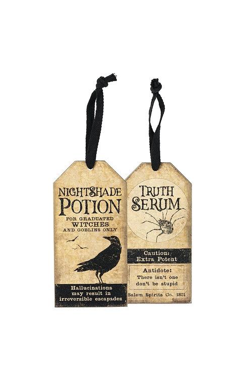 Nightshade Potion/Truth Serum Wine Tag