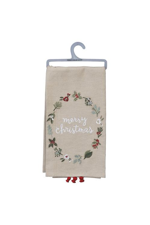 Merry Christmas Dish Towel