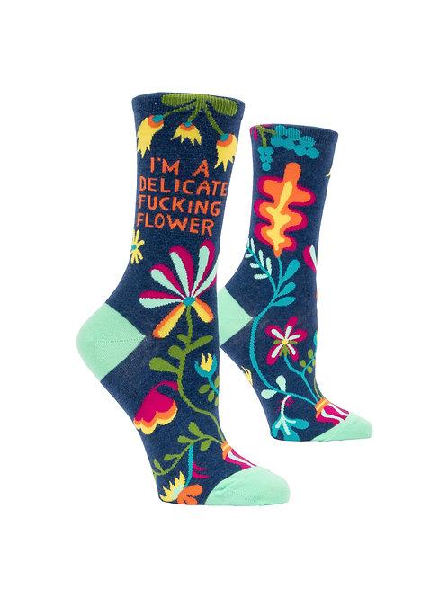 I'm a Delicate Fucking Flower Women's Socks