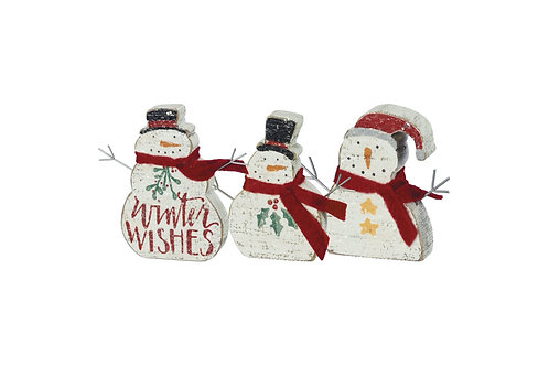 Chunky Snowmen Sitter Set