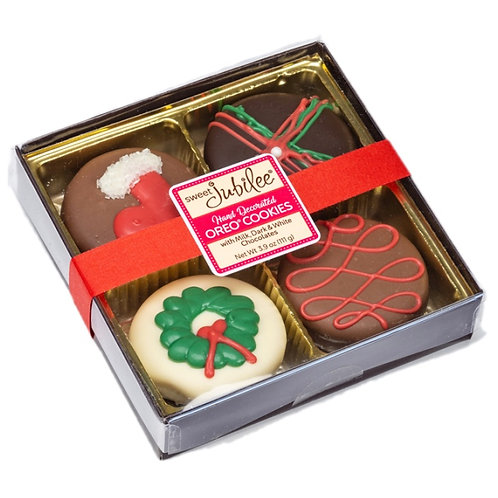 Holiday Chocolate Covered Oreos 4 Pack Gift Box