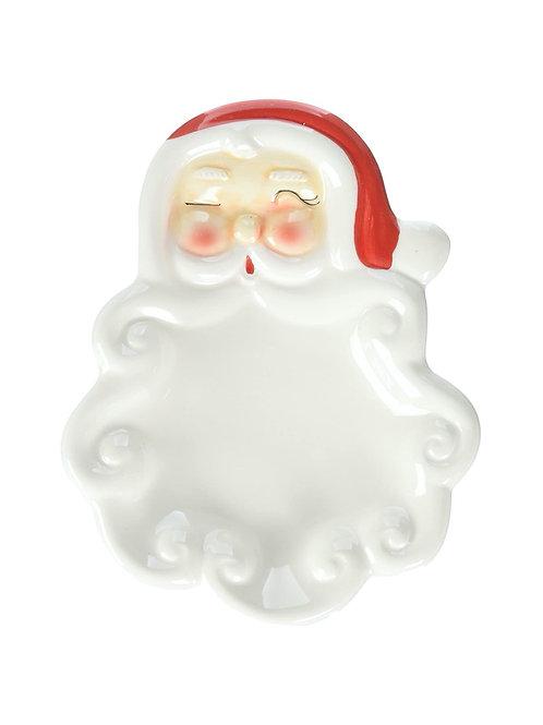 Ceramic Santa Dish