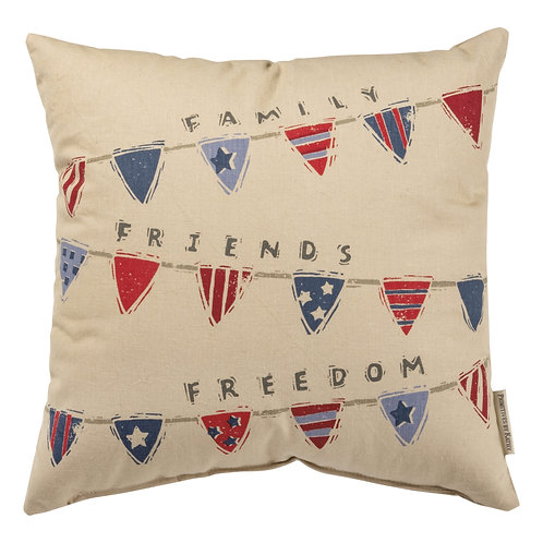 Family, Friends, Freedom Pillow