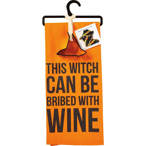 This Witch can be Bribed Dish Towel & Cookie Cutter Set