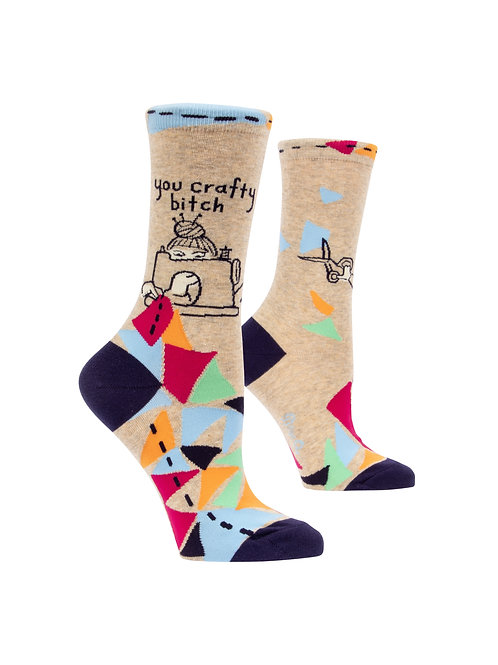 You Crafty Bitch Women's Socks
