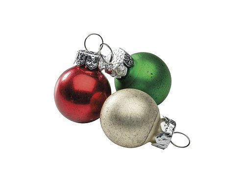 Mini Christmas Glass Ornament Set