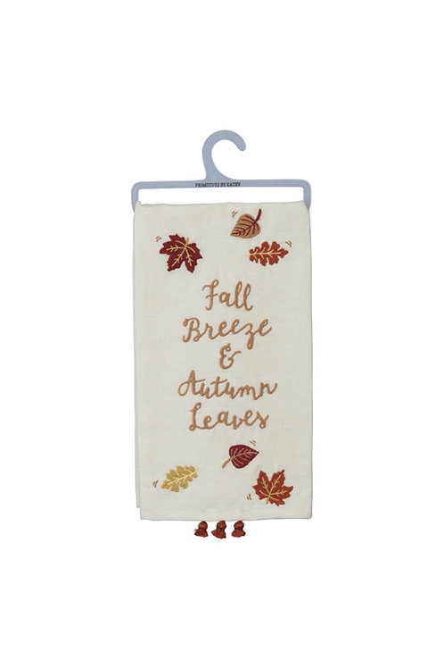 Fall Breeze & Autumn Leaves Dish Towel