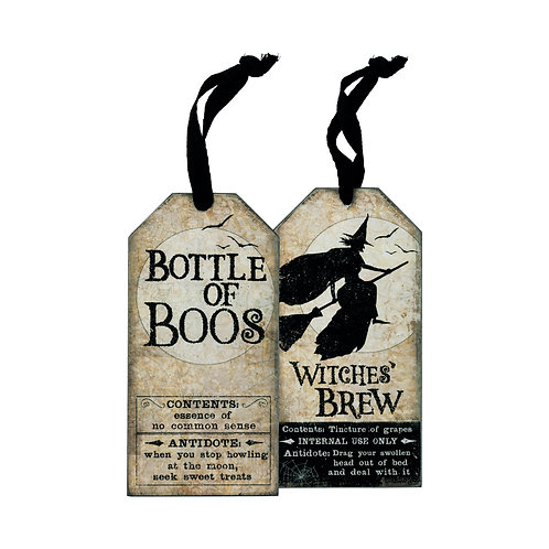 Witches Brew Wine Bottle Tag