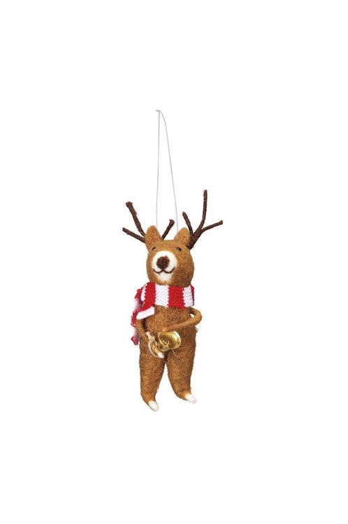 Reindeer with Bell Ornament
