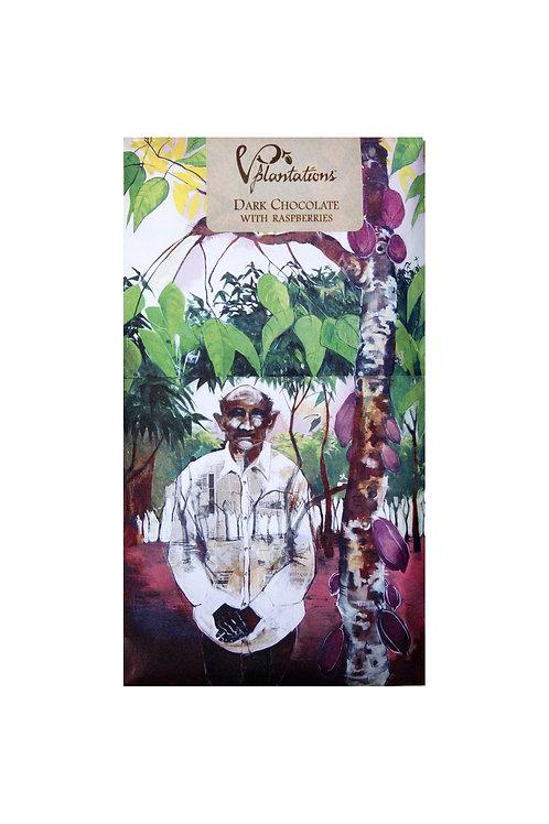 Vintage Plantation: 70% Dark Chocolate with Raspberries