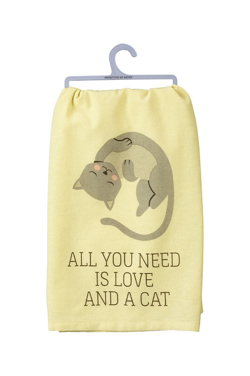 All You Needs is Love and a Cat Dish Towel