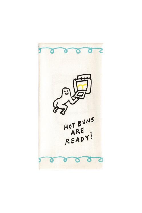 Hot Buns are Ready Dish Towel