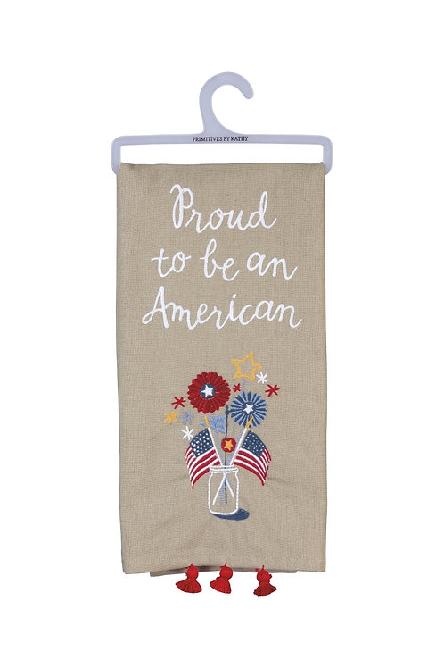 Proud to be an American Dish Towel
