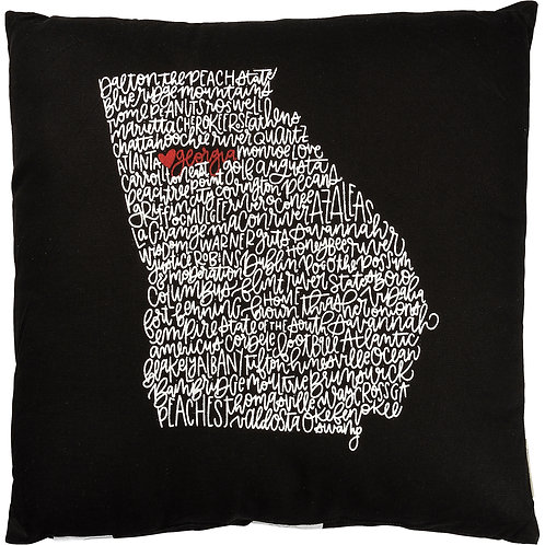 Black Georgia Pillow