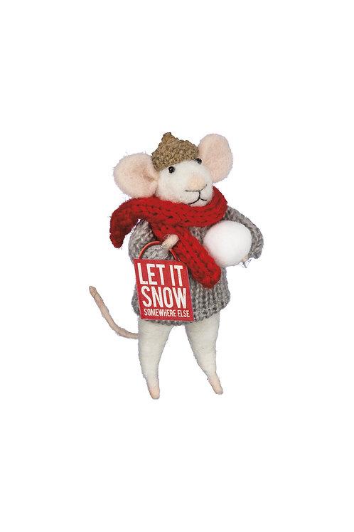 Let it Snow Mouse Ornament