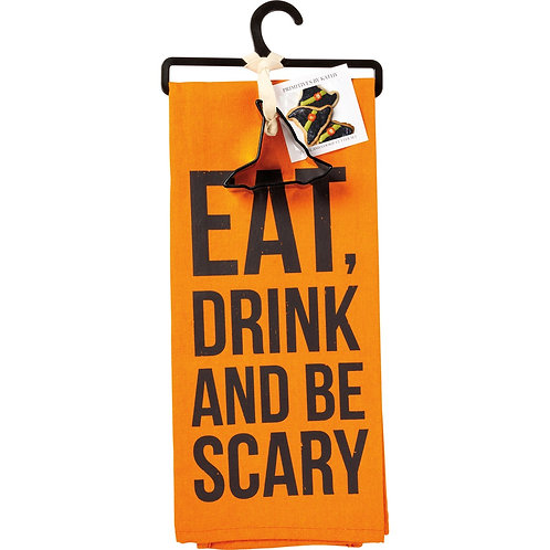 Eat, Drink and be Scary Dish Towel & Cookie Cutter Set