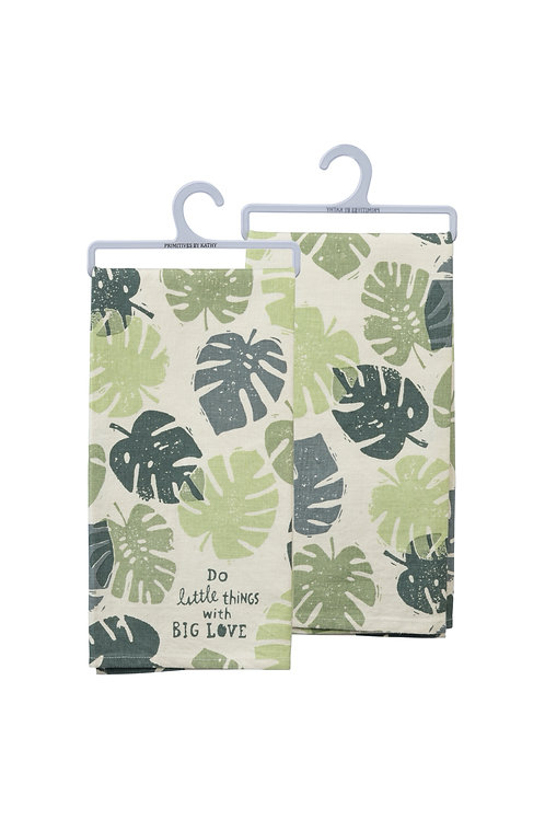 Do Little Things with Big Love Dish Towel
