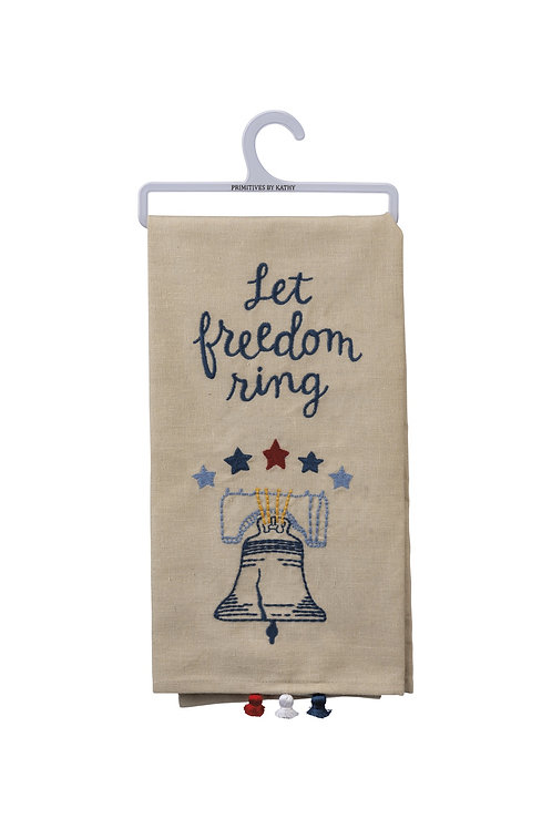 Let Freedom Ring Dish Towel