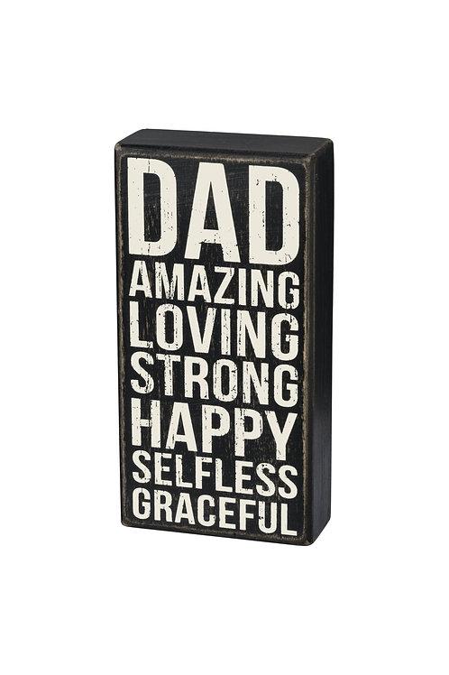 Dad Box Sign