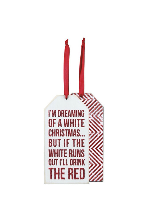 Dreaming of a White Christmas Bottle Tag