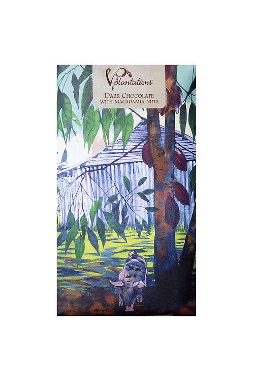 Vintage Plantation: 70% Dark Chocolate with Macadamia Nuts