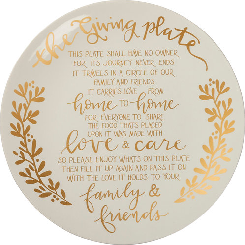 Gold Christmas Giving Plate