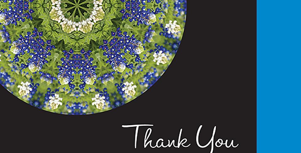 11081: Bluebonnet Thank You, Black Background