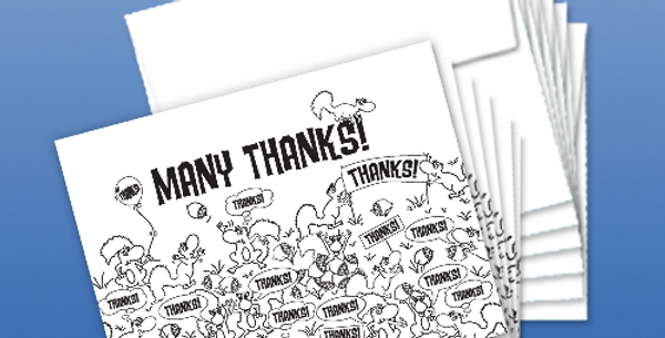 """11008P: (6-Pack) Squirrels Say """"Many Thanks"""""""