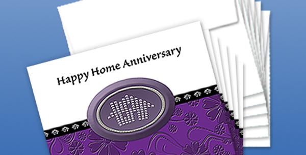 11038P: (6-Pack) Happy Home Anniversary