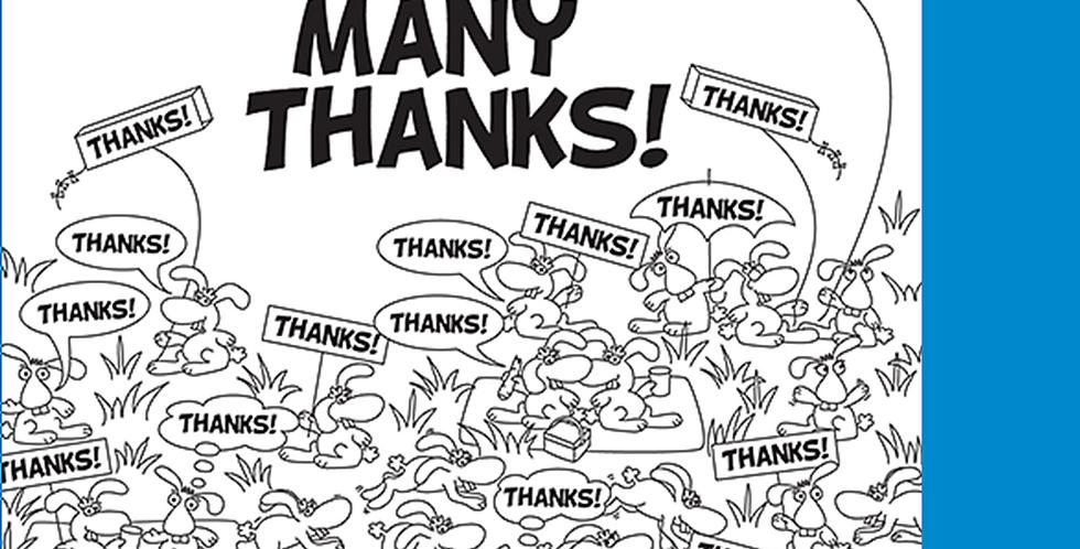 """11005: Rabbits Say """"Many Thanks"""""""
