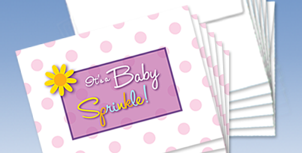 11071P: (6-Pack) Baby Girl Shower (Sprinkle)!