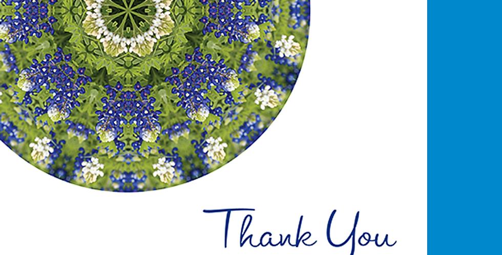 11082: Bluebonnet Thank You, White Background