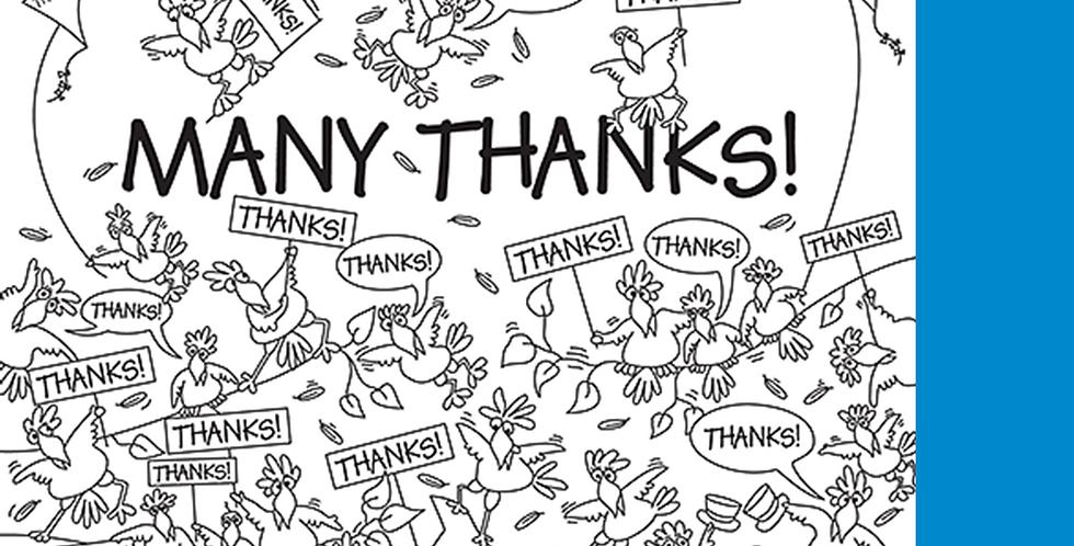 """11006: Birds Say """"Many Thanks"""""""