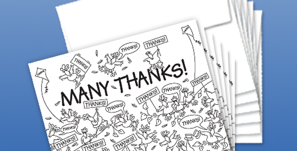 "11006P: (6-Pack) Birds Say ""Many Thanks"""