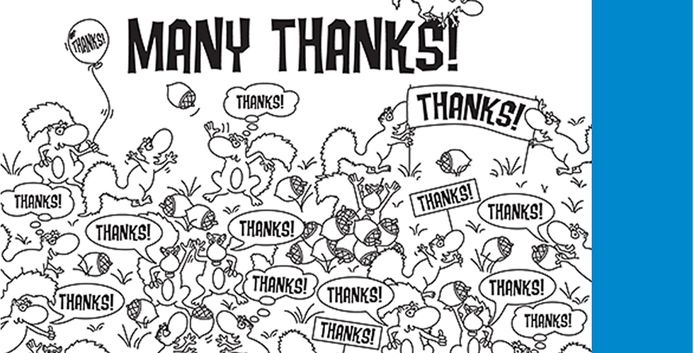 "11008: Squirrels Say ""Many Thanks"""