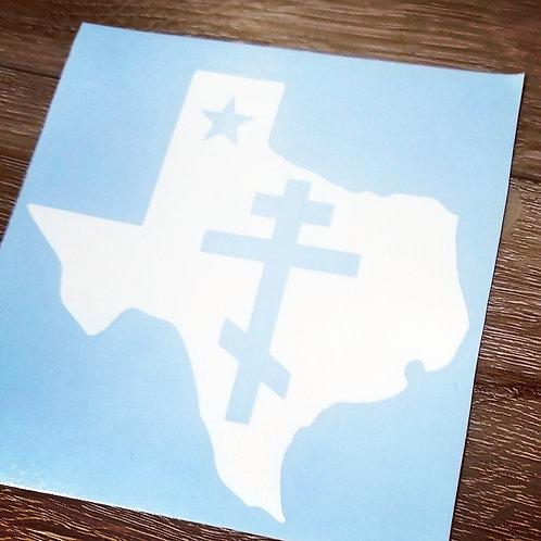 Orthodox Texas Decal