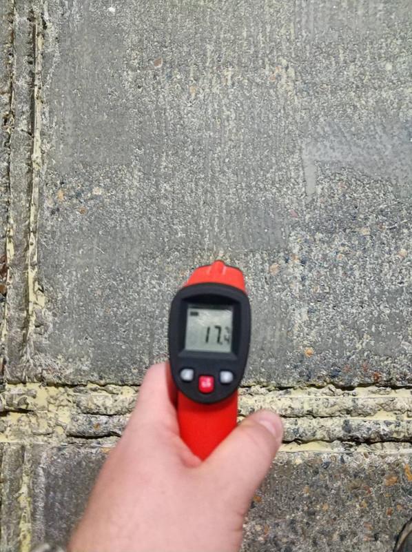 2 Измерение температуры поверхности пола