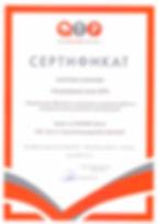Сертификат QTR 1