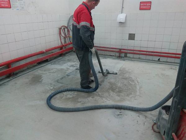 Обеспыливание бетонной поверхности