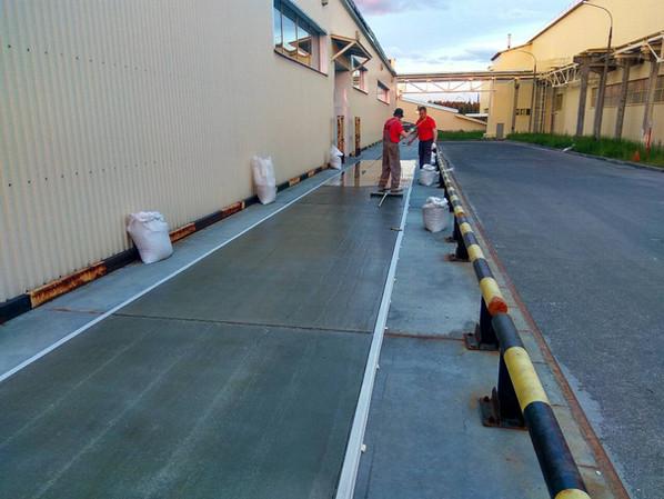 Подготовленная поверхность рампы под нанесение полимерного покрытия